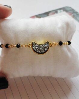 Bracelet lune, bracelet doré, bracelet witchy, bracelet magie, bracelet perles