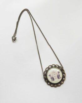 Collier chat sphynx, collie rrosace, collier chat, chat égyptien, collier alternatif, collier bronze, bijou ethnique