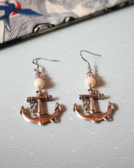 Ancre de bateau, boucles d'oreilles marine, Pirate
