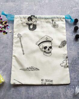 sac à vrac marin, sac vrac marin, sac à vrac pirate, sac vrac pirate, marin, pirate, tattoo, rock, sirène, mermaid, sac zéro déchet, sac fantaisie, sac rock, sac course, course zéro déchet, sac à vrac fantaisie