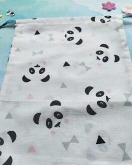 Sac à vrac panda, sac vrac panda, pochon panda, petit ourson, sac à vrac animaux, sac course, sac zéro déchet, sac écologique, course écologique, course zéro déchet
