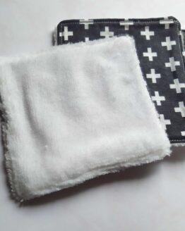 Lingettes lavables fantaisie en coton pour peau sensible