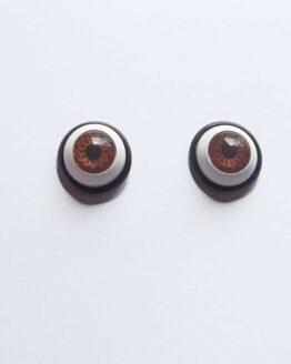 Boucles d'oreilles yeux marron