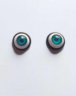 Boucles d'oreilles yeux bleus
