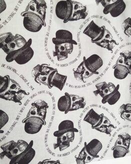 sac crânes à moustaches, têtes de mort, sac moustache, accessoire rock, tote bag rock, tote bag têtes de mort, tote bag crânes
