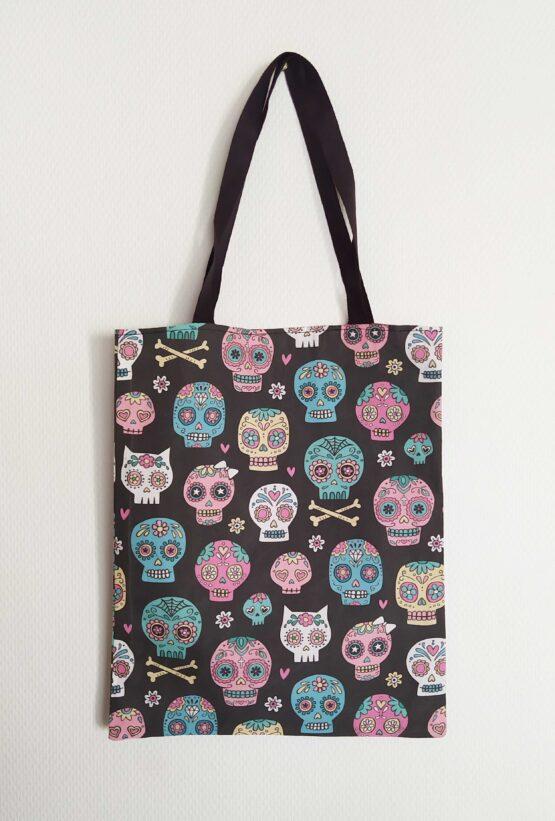 Tote bag skull, tote bag crane, tote bag têtes de mort, sac rock, sac skull, sac têtes de mort, sac cranes, sac alternatif