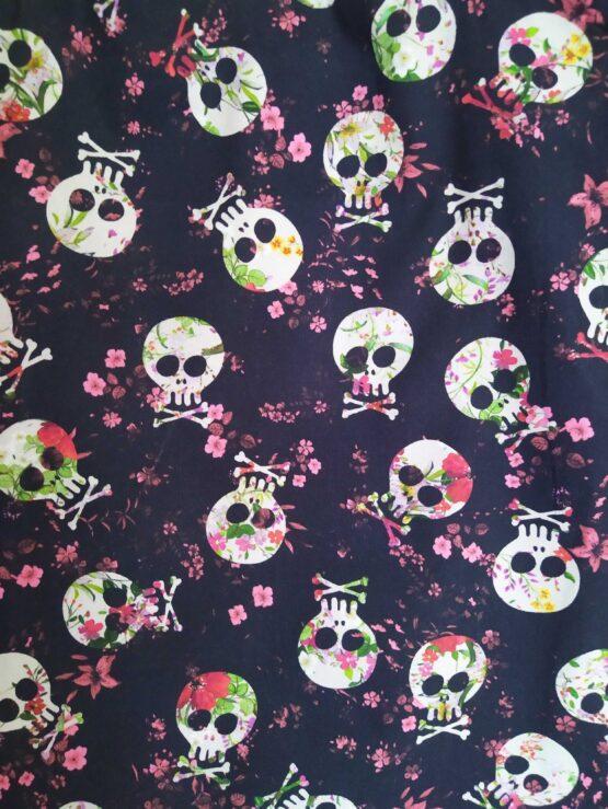 sac rock, sac têtes de mort, sac skull, tote bag tête de morts, tote bag skull, tote bag crânes; rock'n'roll