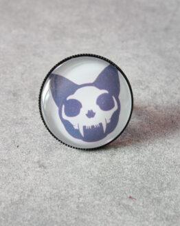 bague mini skullcat, bague crânes de chat, bague rock, bague chat, bague goth, bijou gothique