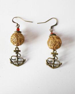 Boucles d'oreilles ancre marine, bijou marin, sailor