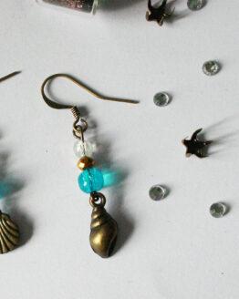 Boucles d'oreilles coquillage, bijou été