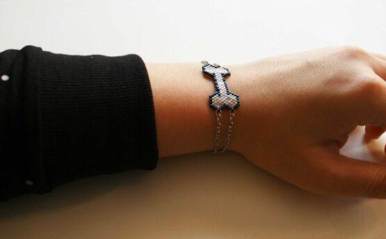 Bracelet os, bracelet kawaii, bracelet halloween , creepy, mode alternative, squelette, gothique