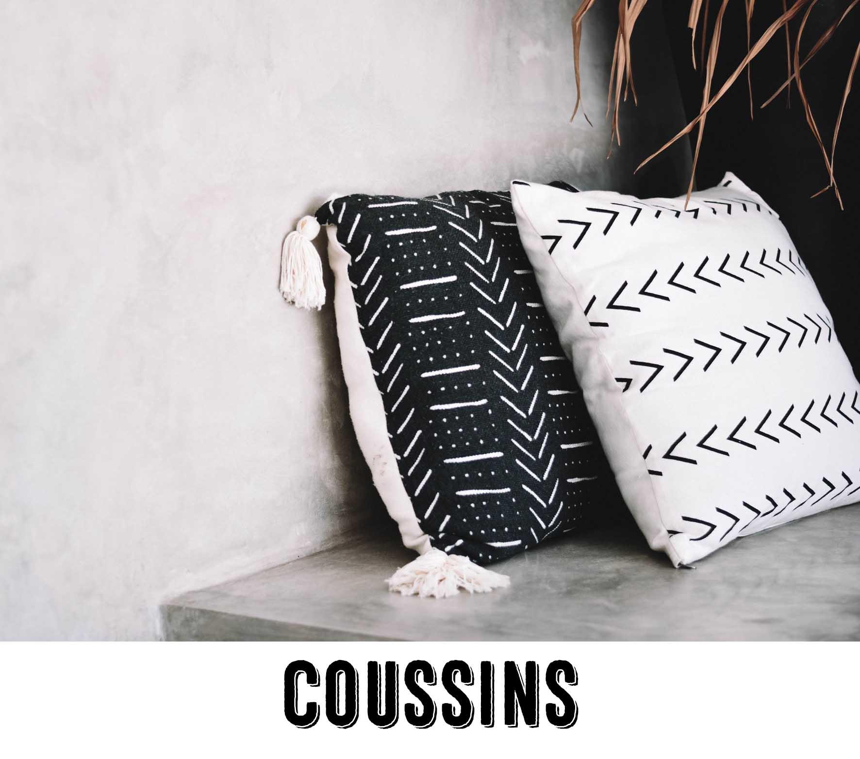 Coussins décoratifs et housses de coussins originaux