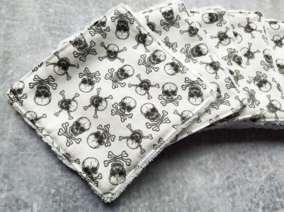 Lingettes reutilisables pirate skull