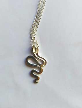 pendentif serpent en argent 925