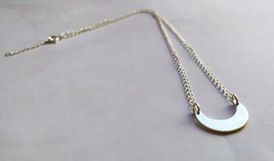 bijoux lune minimaliste en argent 925