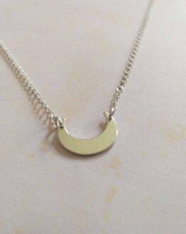 collier lune minimaliste en argent 925