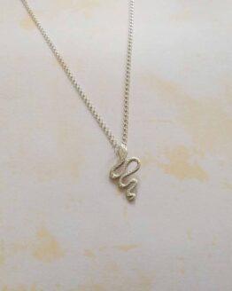 collier pendentif serpent en argent 925