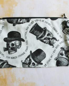 pochette rock avec des têtes de mort