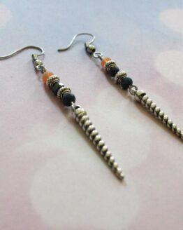 Boucles d'oreilles corne, bijoux licorne avec perles de verre