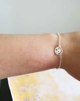 Bracelet breloque lune en argent 925