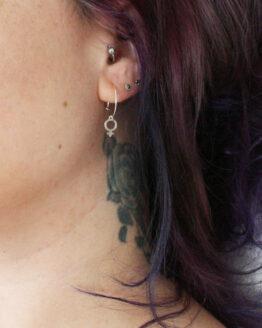 Boucles d'oreilles symbole femme en argent 925